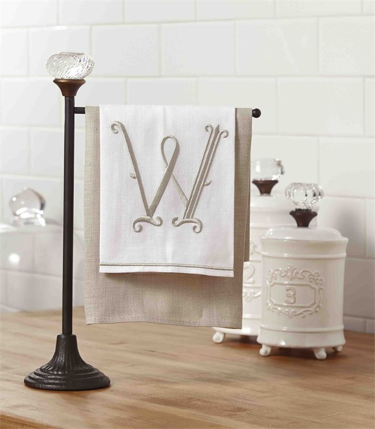 Kitchen decor · cast iron towel holder has vintage style glass door knob accent at top perfect