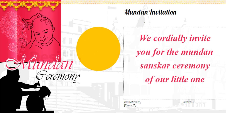 Mundan Ceremony Invitation Quotes Card Design And Wordings Badhaai