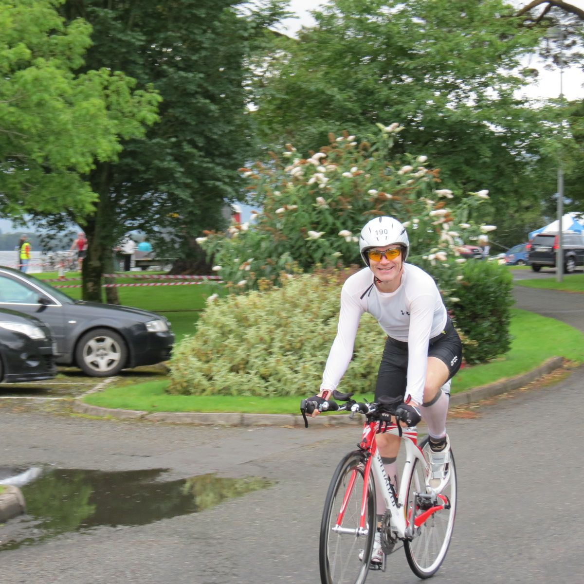 Heading out onto the 40km bike ride at Kilarney in Western Ireland August 2012