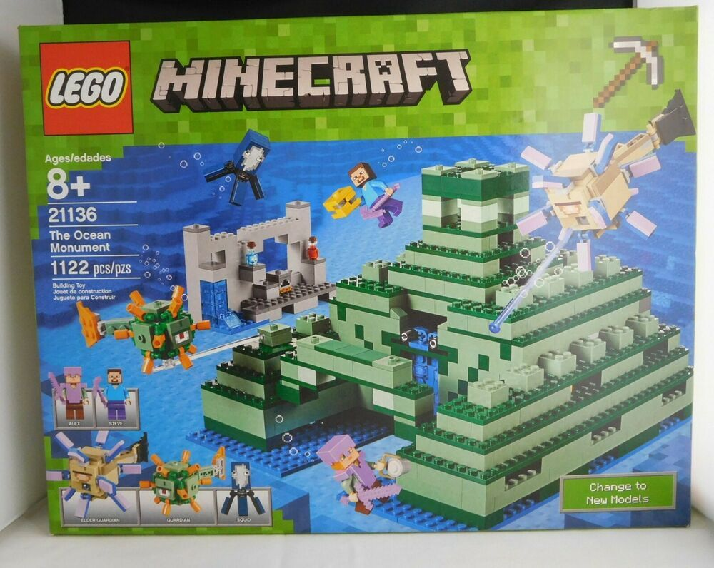 Lego 21136 Minecraft The Ocean Monument 1122pcs New In Sealed Box