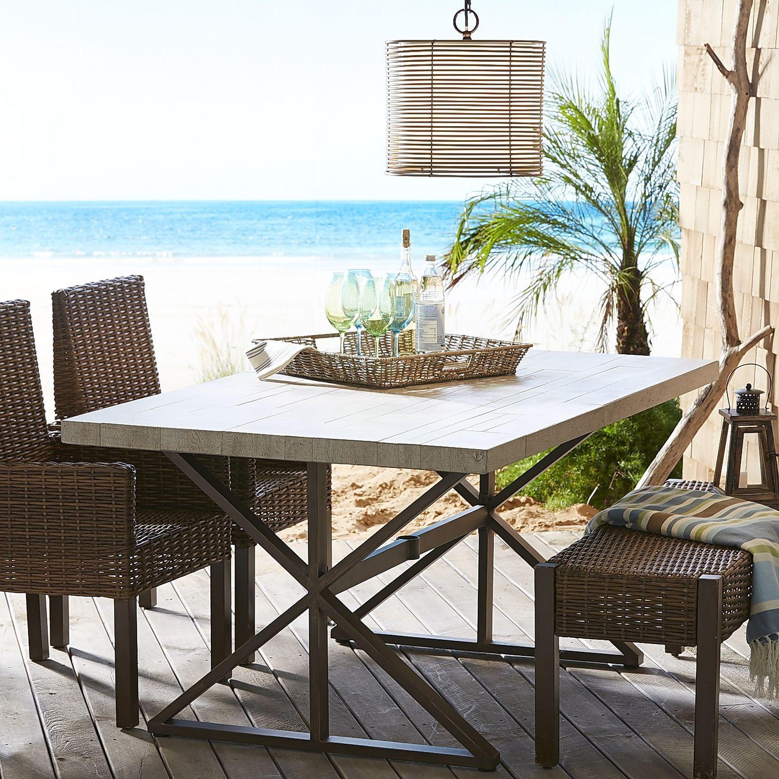 Paxson Wood Grain Tile Dining Table