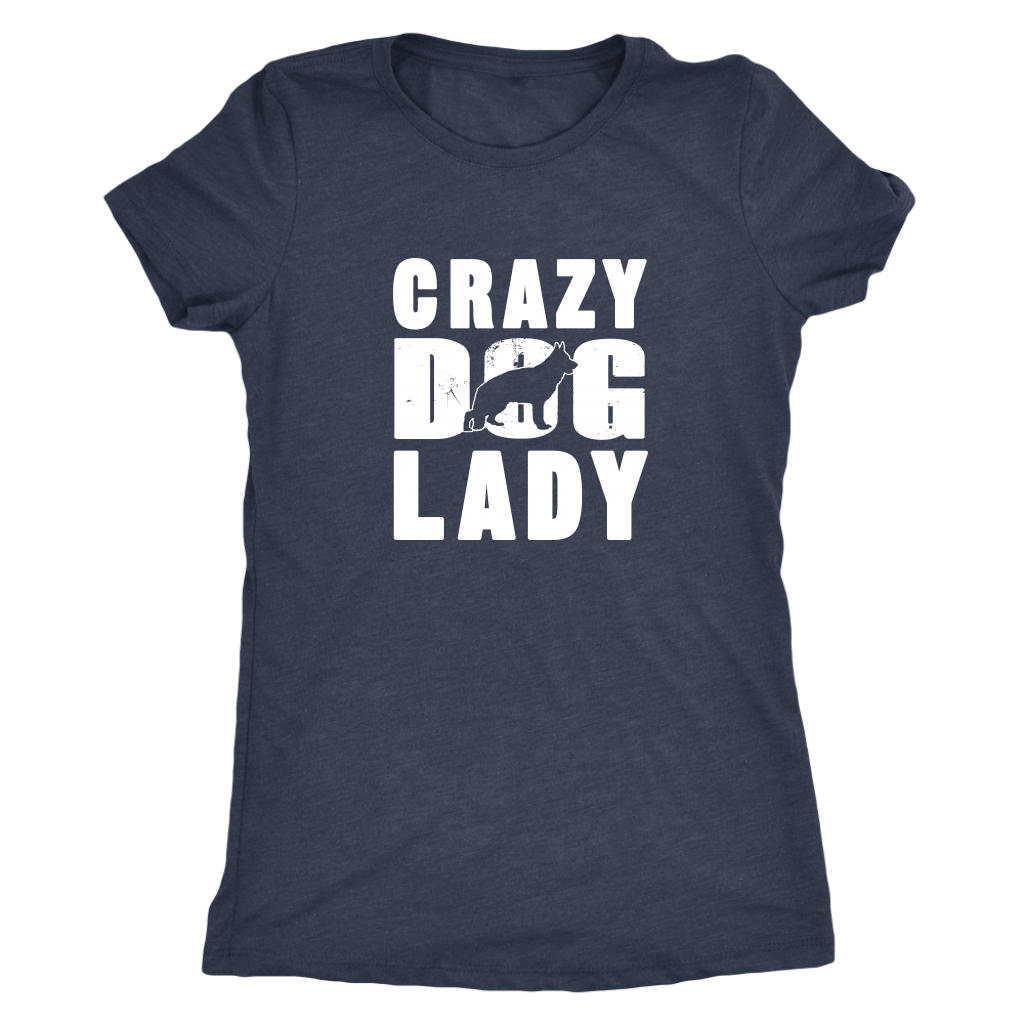 Crazy German Shepherd Dog Lady - T-Shirts - Next L