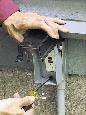 extending power outdoors electrical pinterest outdoors rh pinterest com Residential Electrical Wiring Diagrams Home Electrical Wiring Diagrams