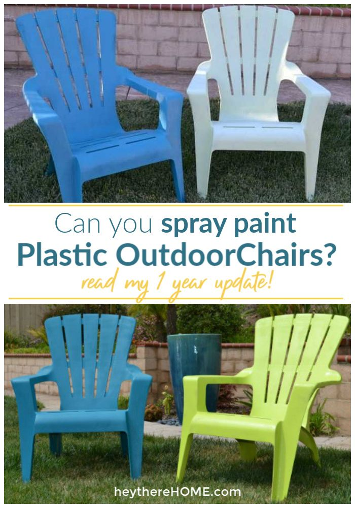 Enjoyable 1 Year Later Spray Painted Plastic Outdoor Chairs Best Ibusinesslaw Wood Chair Design Ideas Ibusinesslaworg