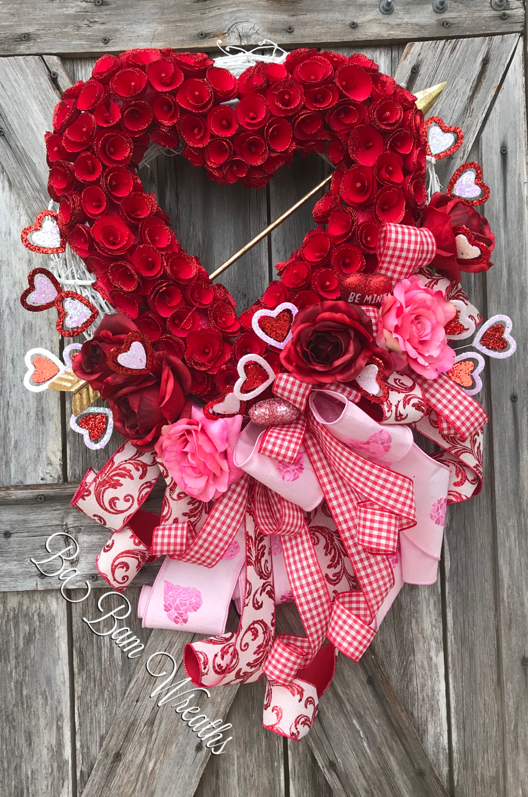 Valentine Wreath By Ba Bam Wreaths Trendy Tree Custom