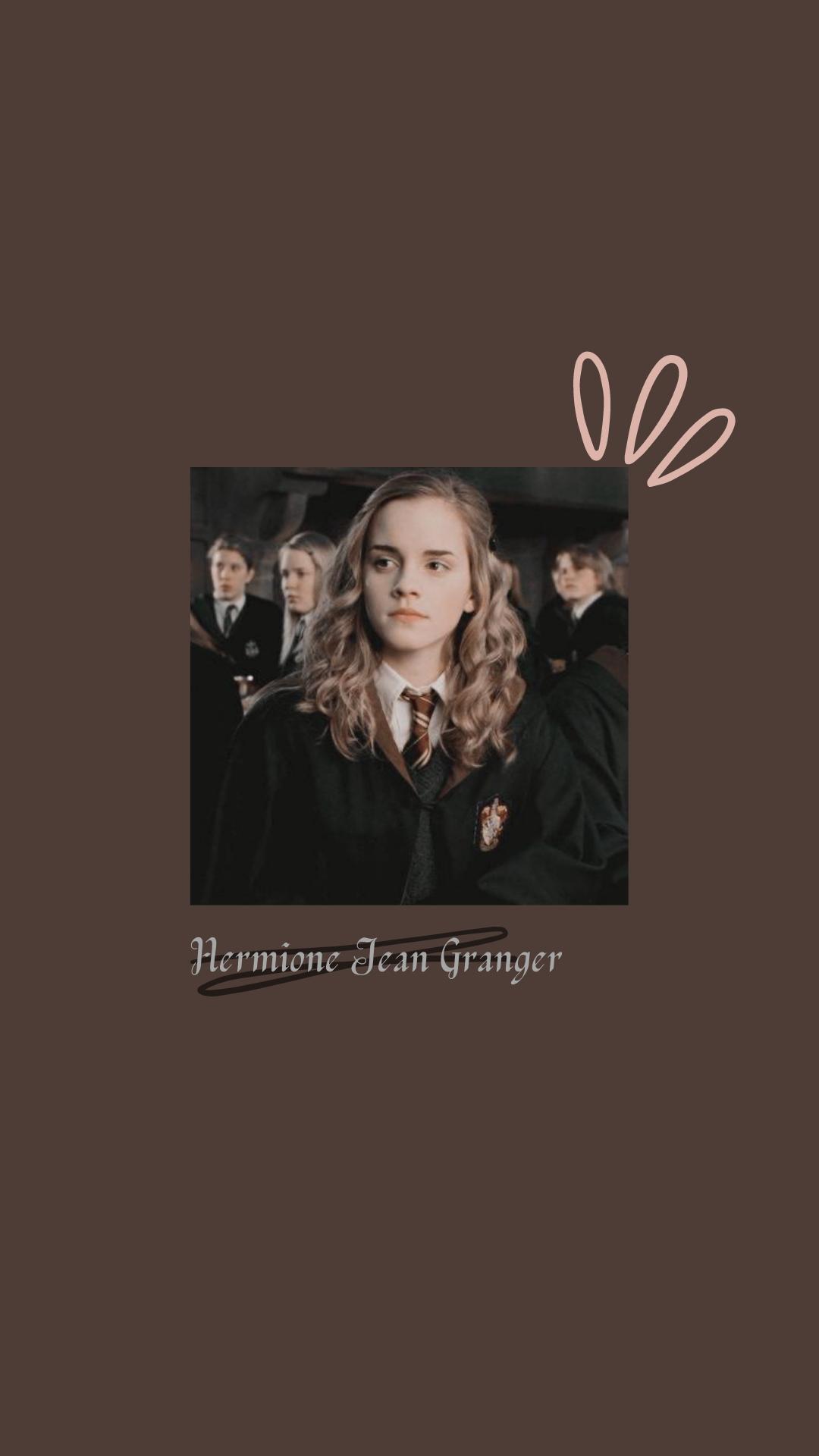 'Hermione Jean Granger' from Harry Potter Aesthetic wallpaper/lockscreen