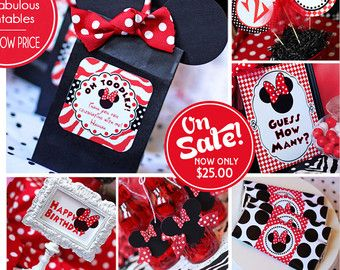 Minnie Mouse Decorations Minnie Mouse Birthday Minnie Mouse