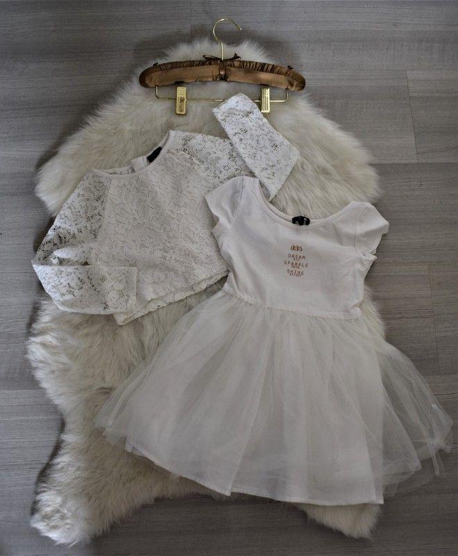 a93667c3a17ad IKKS ensemble robe + pull en dentelle 4 ans tres boheme boho chic (*10