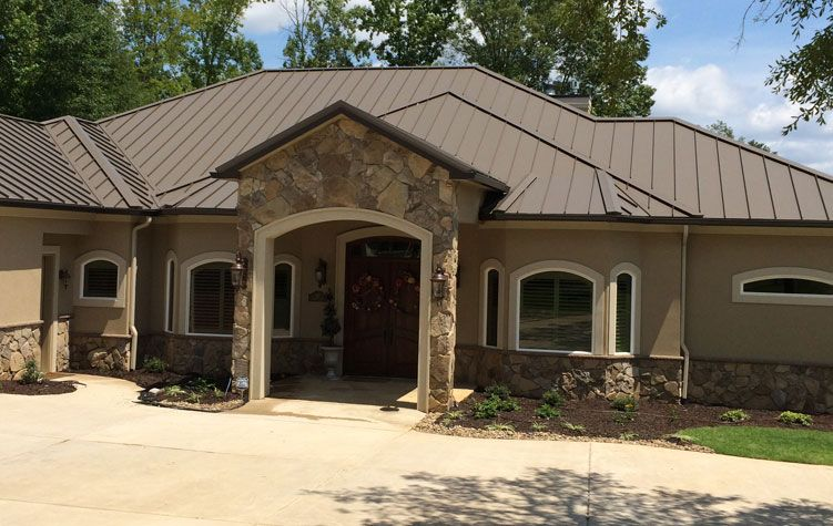 Best Medium Bronze Metal Roof With Images Roof Colors 400 x 300