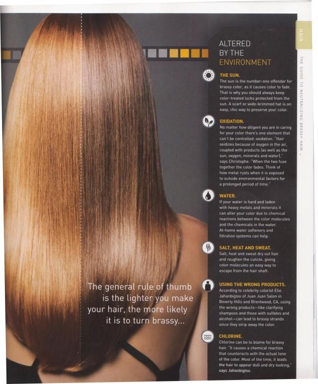 Unique Brassy Hair Color Fix at Home