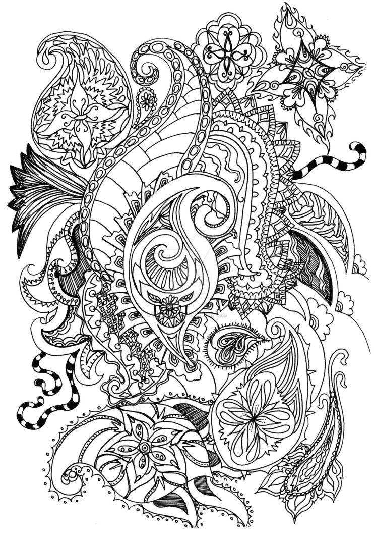 fancy mandala coloring pages - photo#4