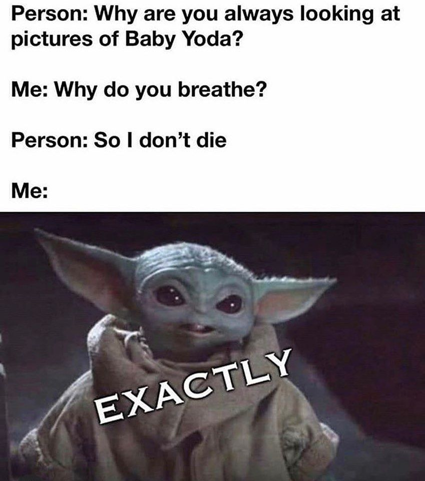 Baby Yoda Memes On Instagram Babyyoda Babyyodamemes Starwars Starwarsmemes Yoda Yodamemes Themandalorian T Yoda Funny Funny Star Wars Memes Yoda Meme