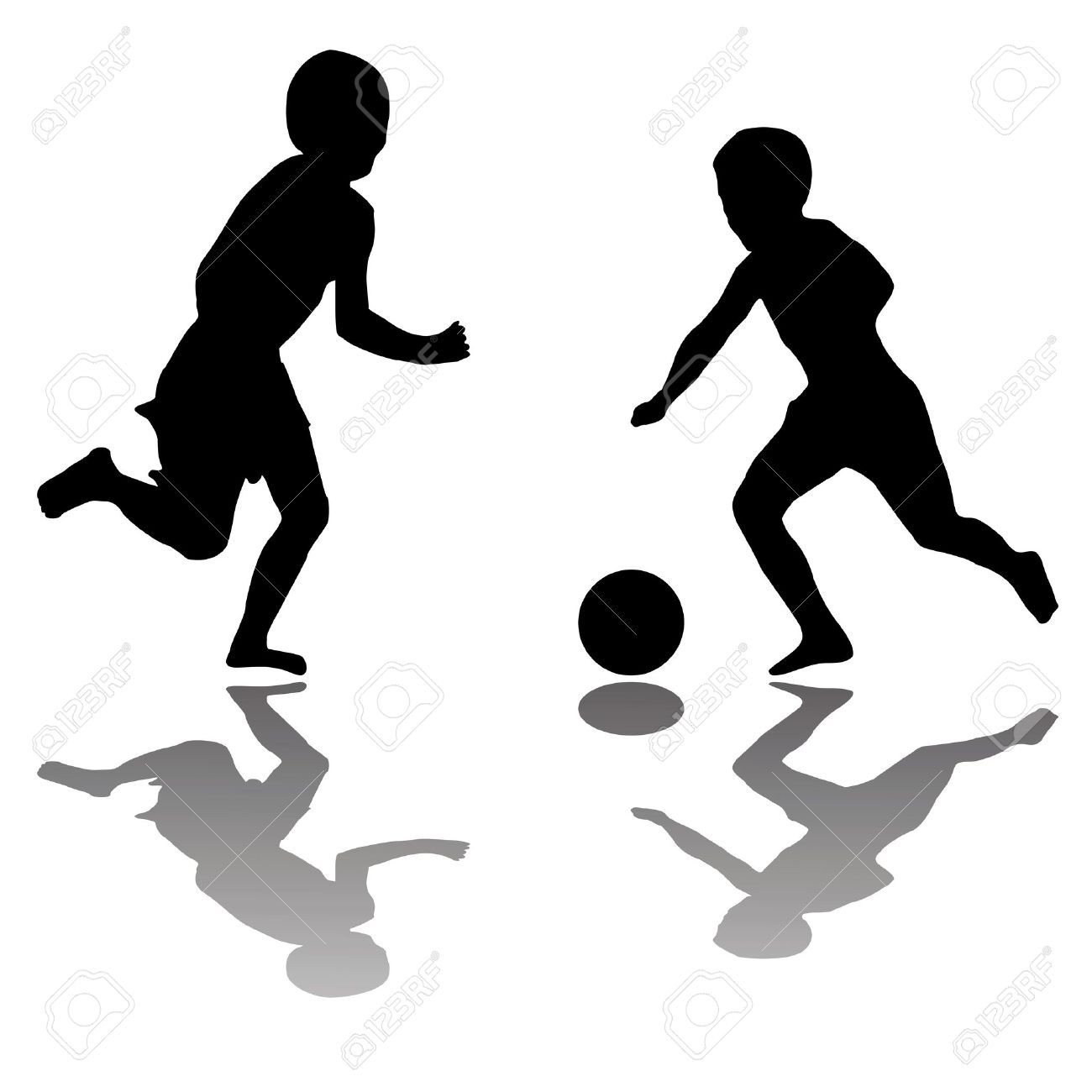 Kids Playing Football Clipart Black And White Clipartxtras Sport Illustration Boys Playing Children Illustration