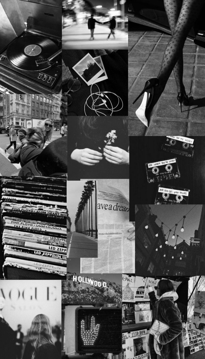 Black White Collage Wallpaper Black Aesthetic Wallpaper Aesthetic Backgrounds Iconic Wallpaper