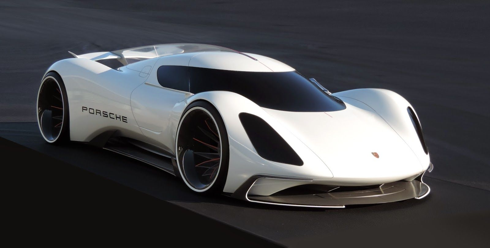 Porsche electric le mans 2035 prototype front three quarters no car no fun muscle cars and power cars