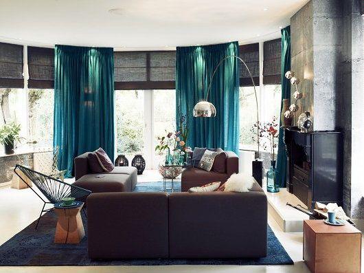 Petrol stoel zitkamer pinterest interieur kleuren for Petrol accessoires woonkamer