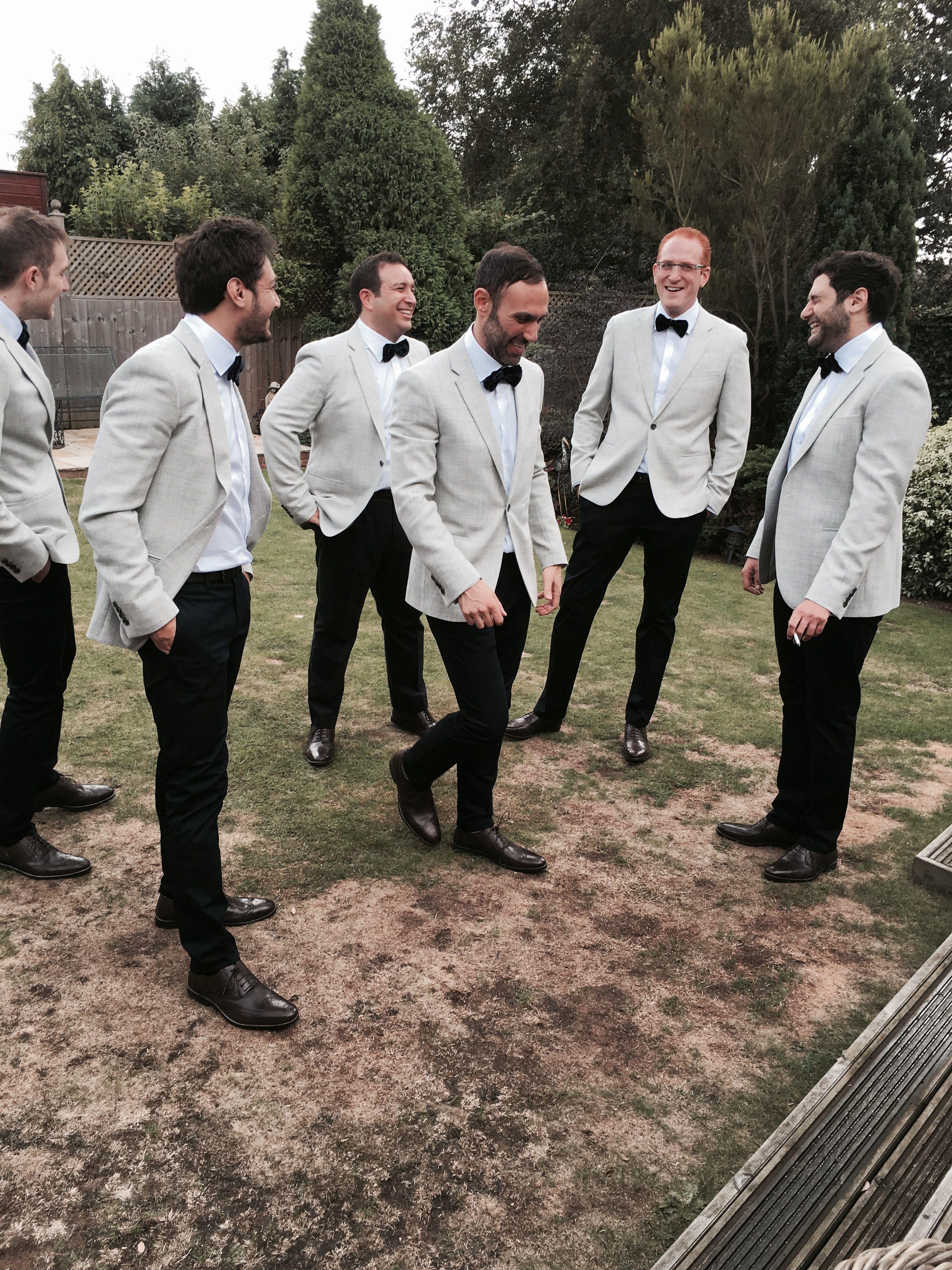 Groom Ushers Groomsmen Smart Dapper Bow Tie Wedding Chinos Usher Wedding Attire Wedding Groomsmen Attire Groom And Groomsmen Attire