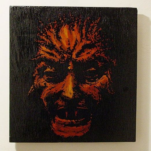 #oil #oilpainting #devil #paintonwood #tattooidea #tattooinspiration #2006 #tatuaż #mat_tattoo