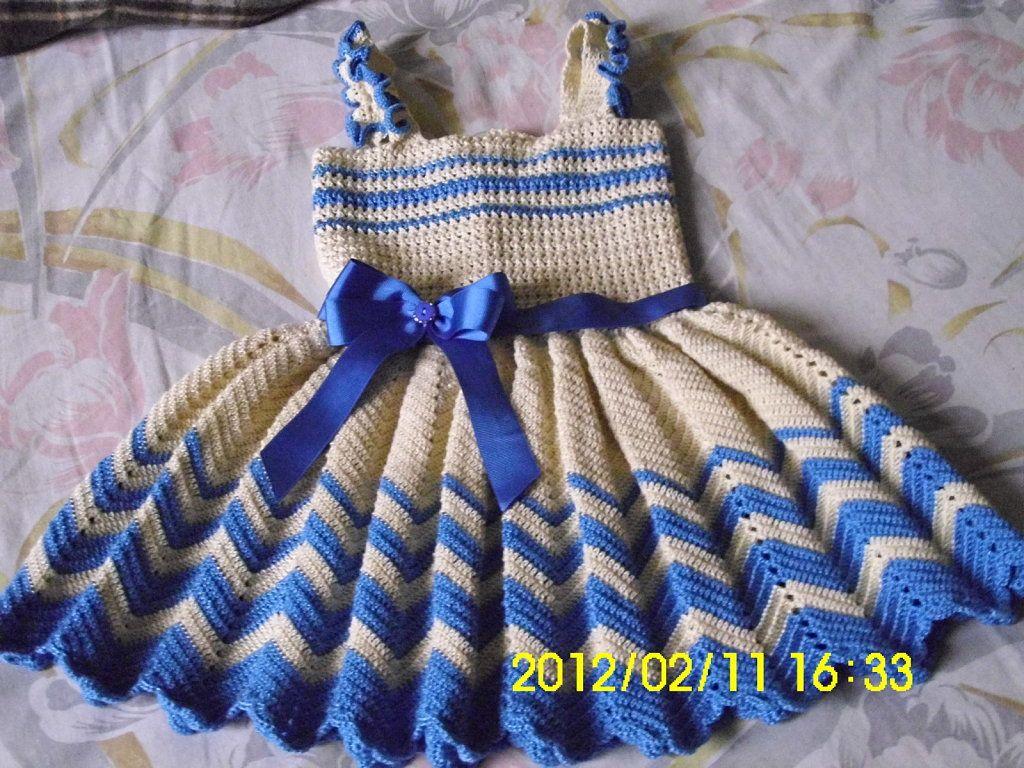 vestidos de nina tejidos a gancho - Buscar con Google | Vestidos ...