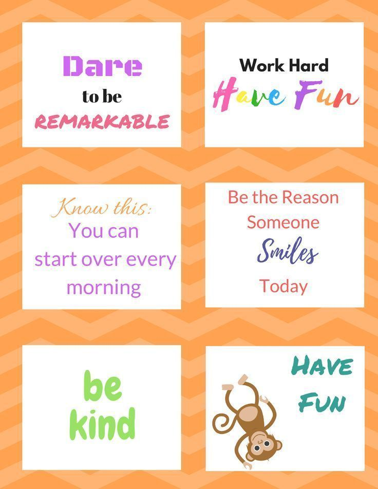 FREE Printable Lunch Notes Click to Get these fun and