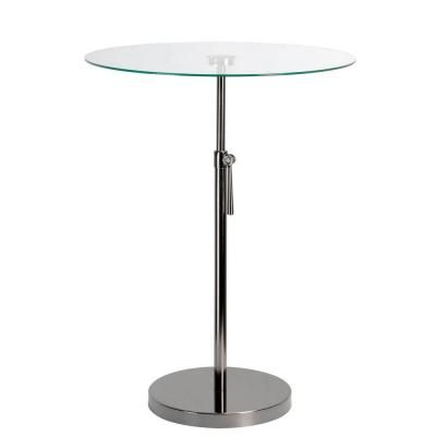 Kenroy Home Propel Nickel Accent Table-65025BNKL - The Home Depot