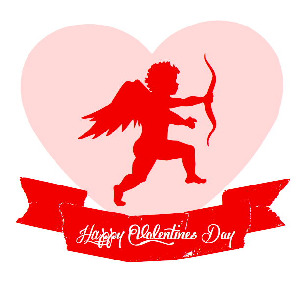 Happy Valentine\'s Day Card from Sweet Event Design cupid-happy ...