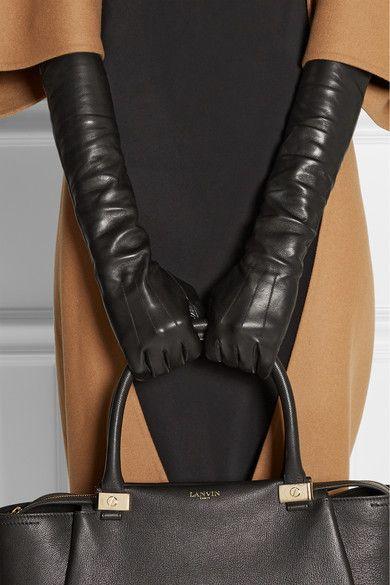 #Lanvin#Leather gloves #gloves