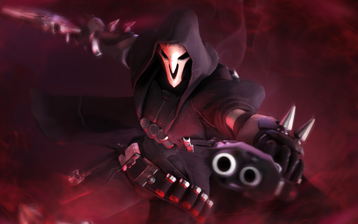 Download wallpapers 4k, Reaper, artwork, cyber warrior