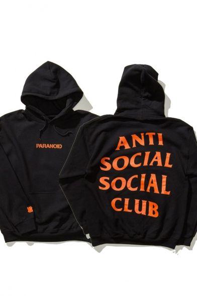 Unisex Anti Social Social Club Letter Printed Back Hooded Long Sleeve Hoodie Sweatshi Anti Social Social Club Anti Social Social Club Hoodie Anti Social Hoodie