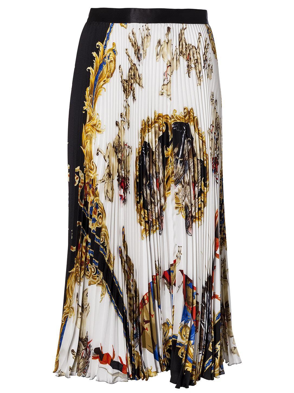 26b6e17e41 VERSACE BAROQUE PLEATED SKIRT. #versace #cloth #   Versace in 2019 ...