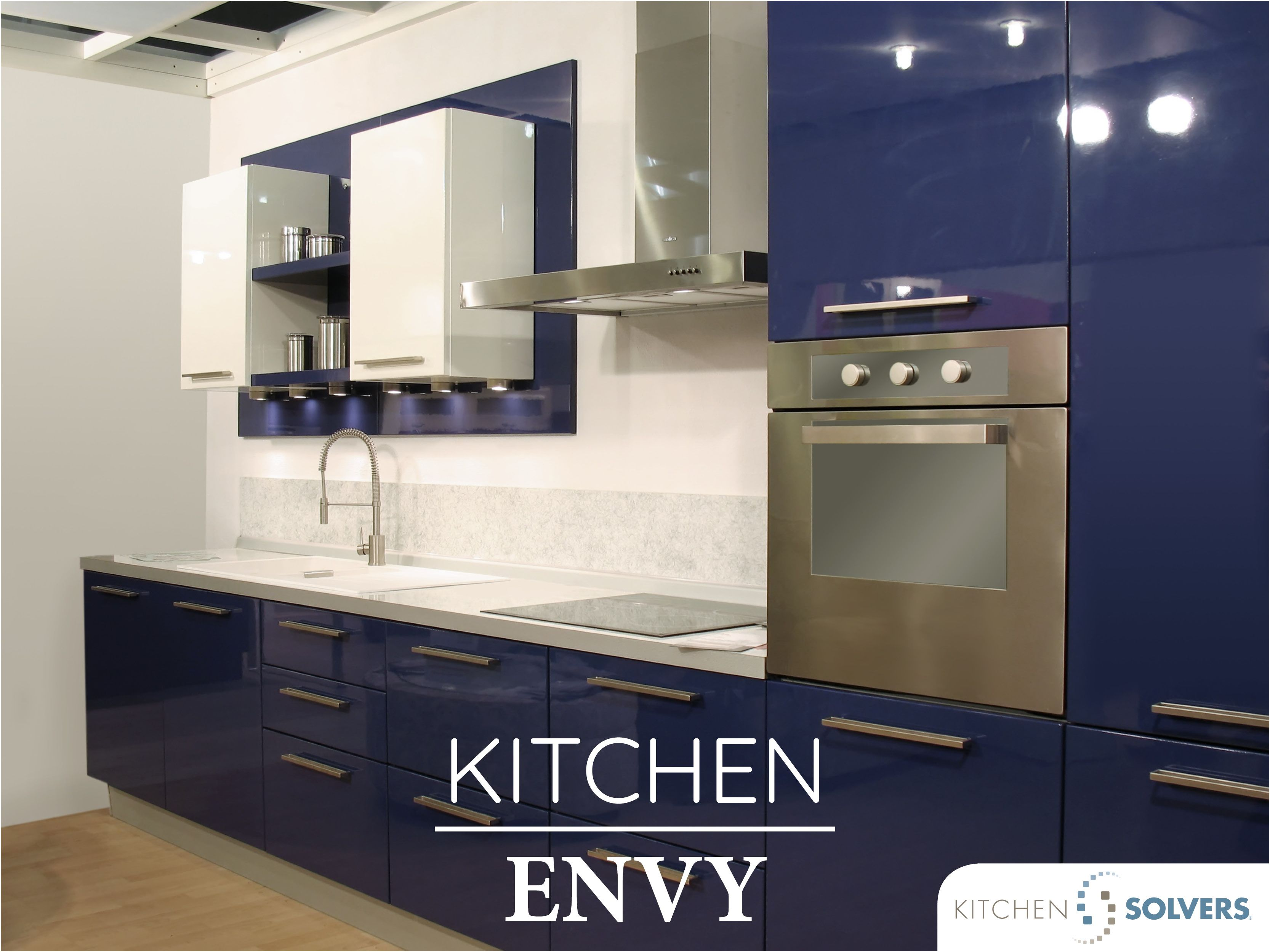 Striking Royal Indigo The Glossy Lustrous Indigo Doors In This