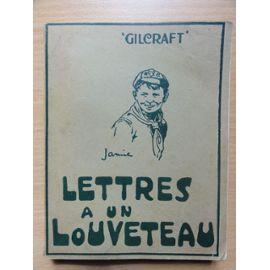 Lettres A Un Louveteau de GILCRAFT