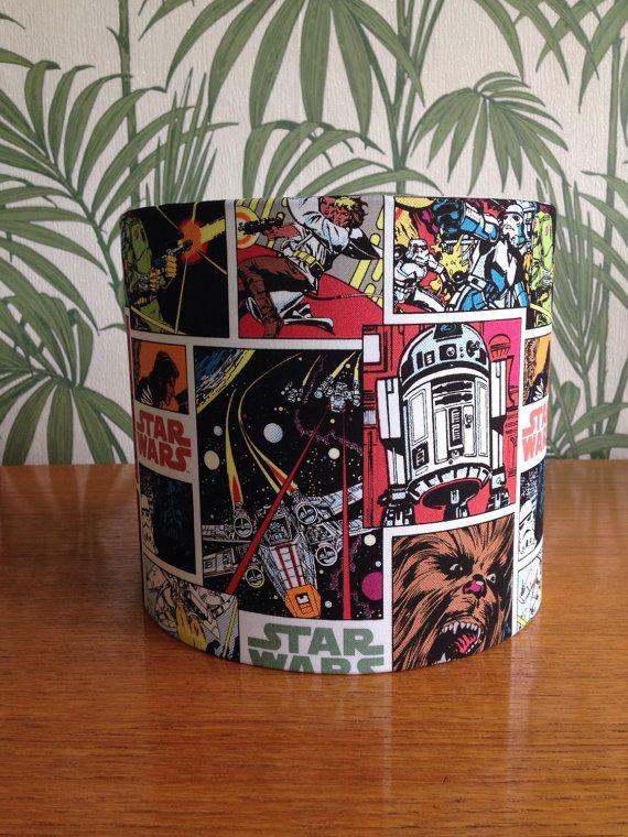 Star Wars Retro Comic Lampshade Handmade In UK By BrightenUpUK