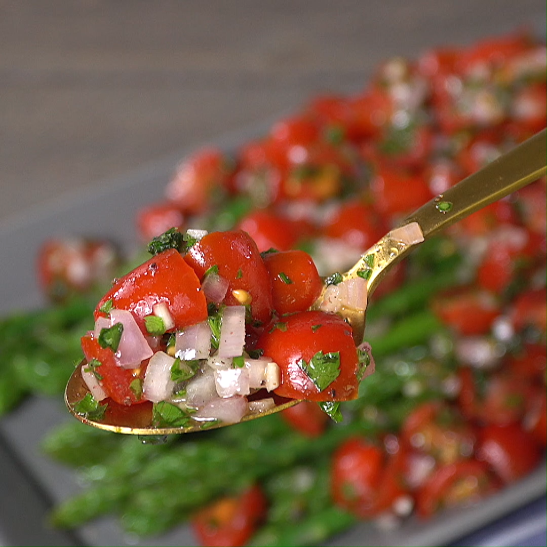 Asparagus with Mediterranean Salsa images