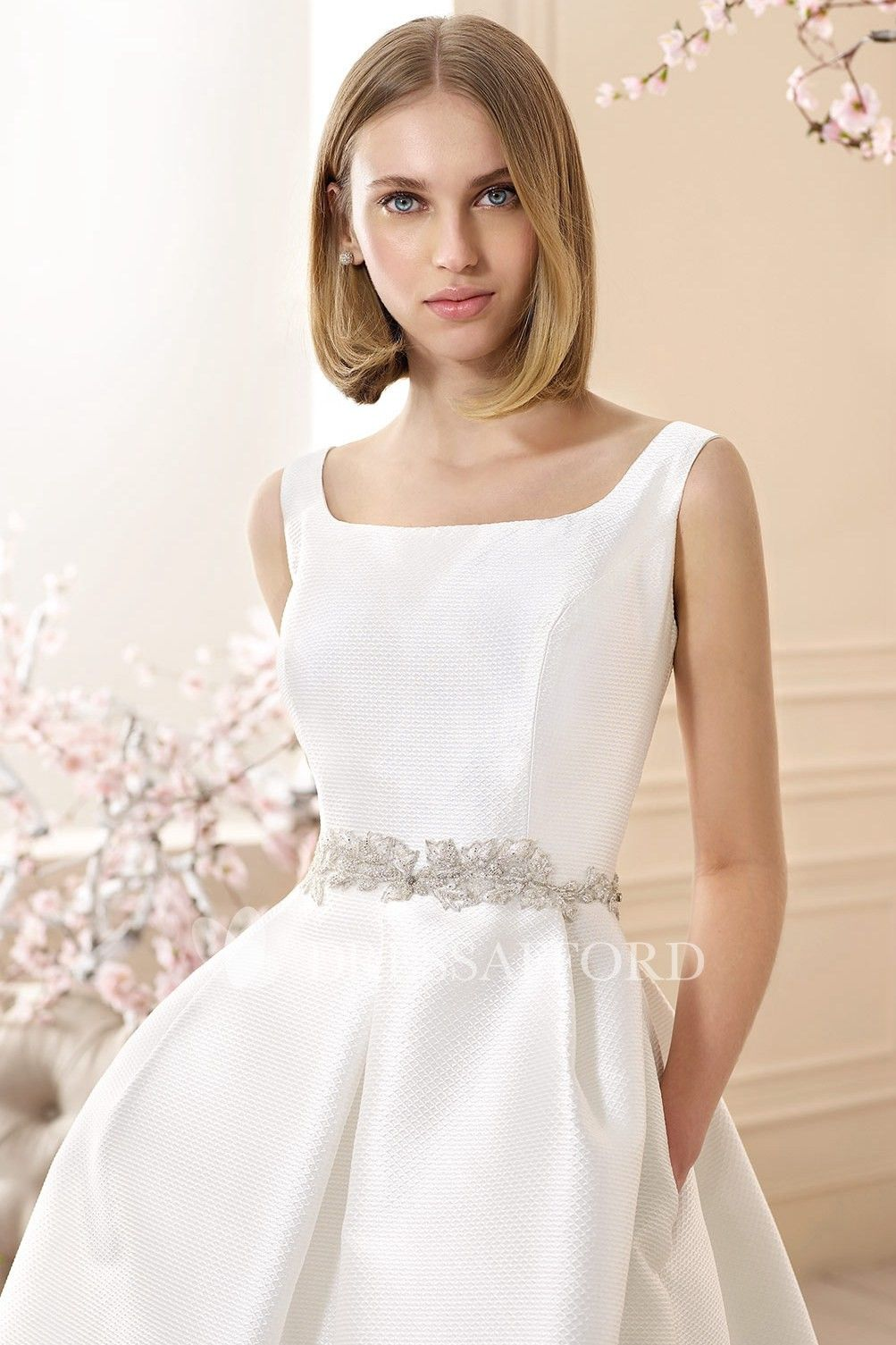 39++ Square neck wedding dress for sale information