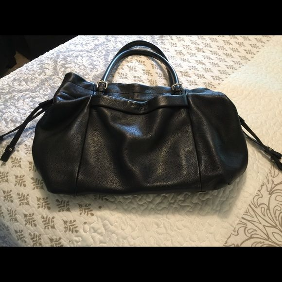 Kate Spade leather bag-trades welcome Black leather. No scuffs or scratches. Perfect condition. Draw string and adjustable strap lengths. Non smoker Bags Totes