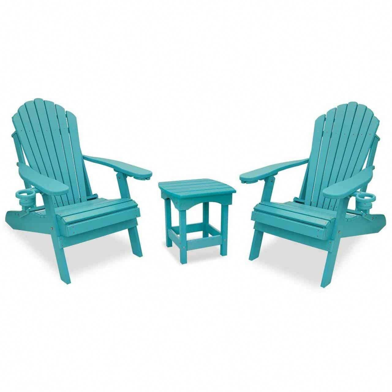 Eccb outodor outer banks 3piece deluxe adirondack chair