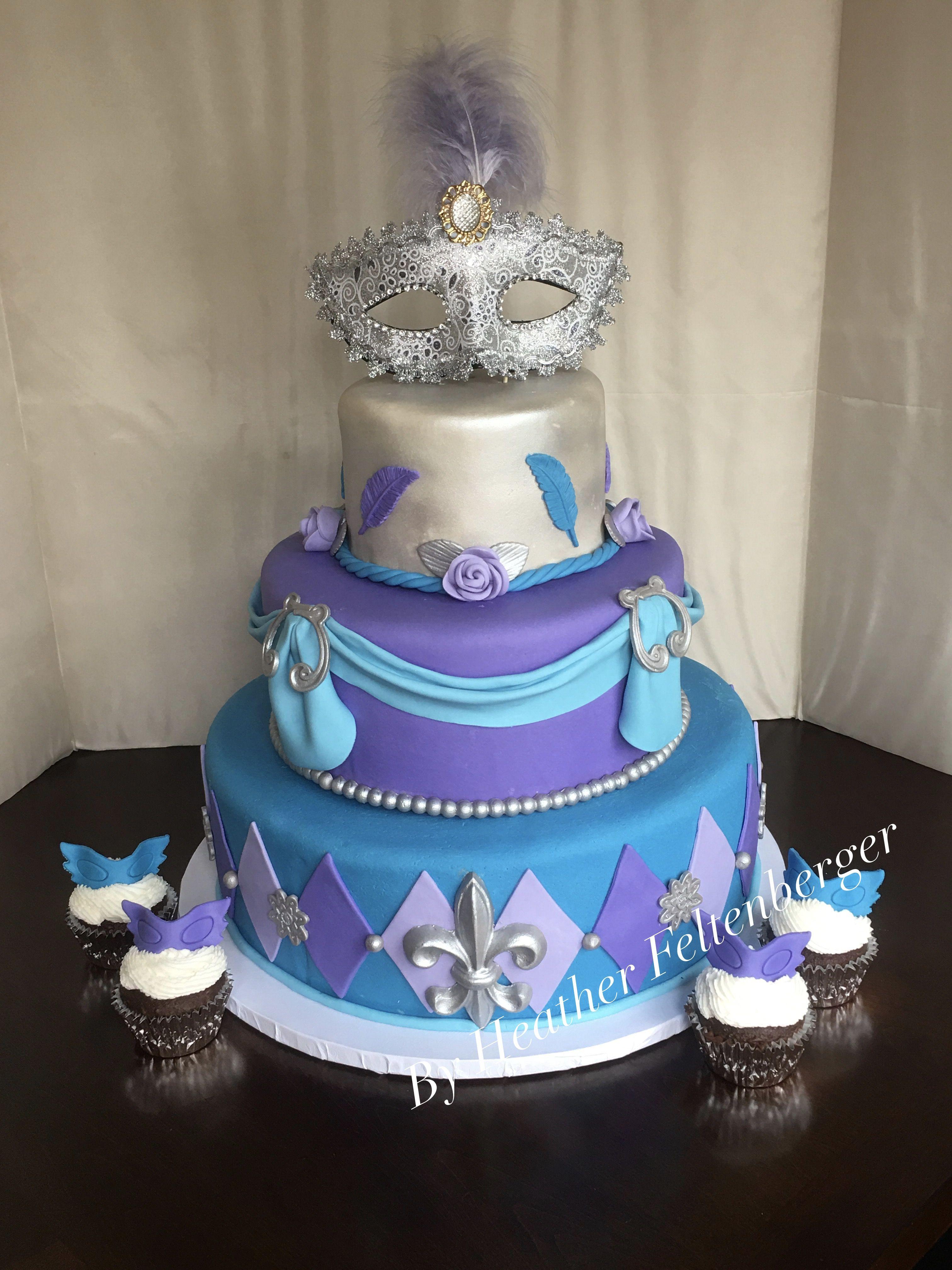Pleasant Masquerade Mardi Gras Blue Purple And Silver Sweet 16 Funny Birthday Cards Online Ioscodamsfinfo