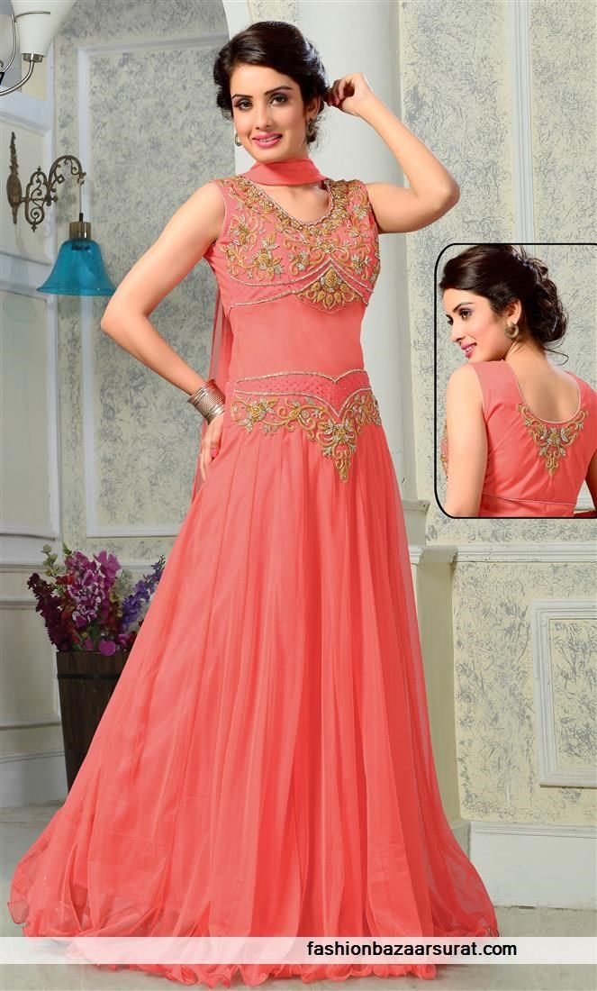 Modern Pitch Net Designer Gown   Indian Gowns Online Collections ...