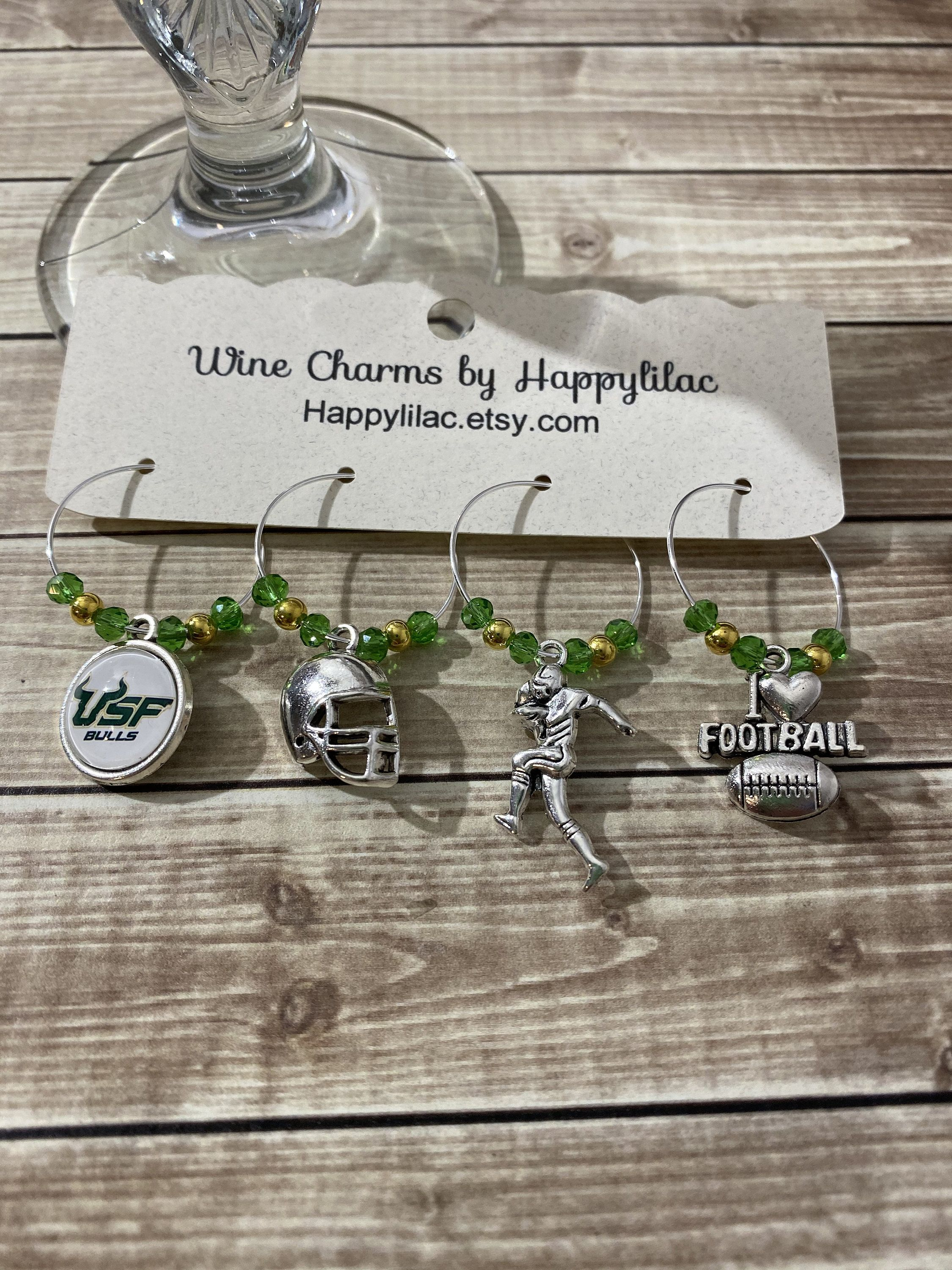 USF Wine Charms, Wine Charms, Free Shipping, College