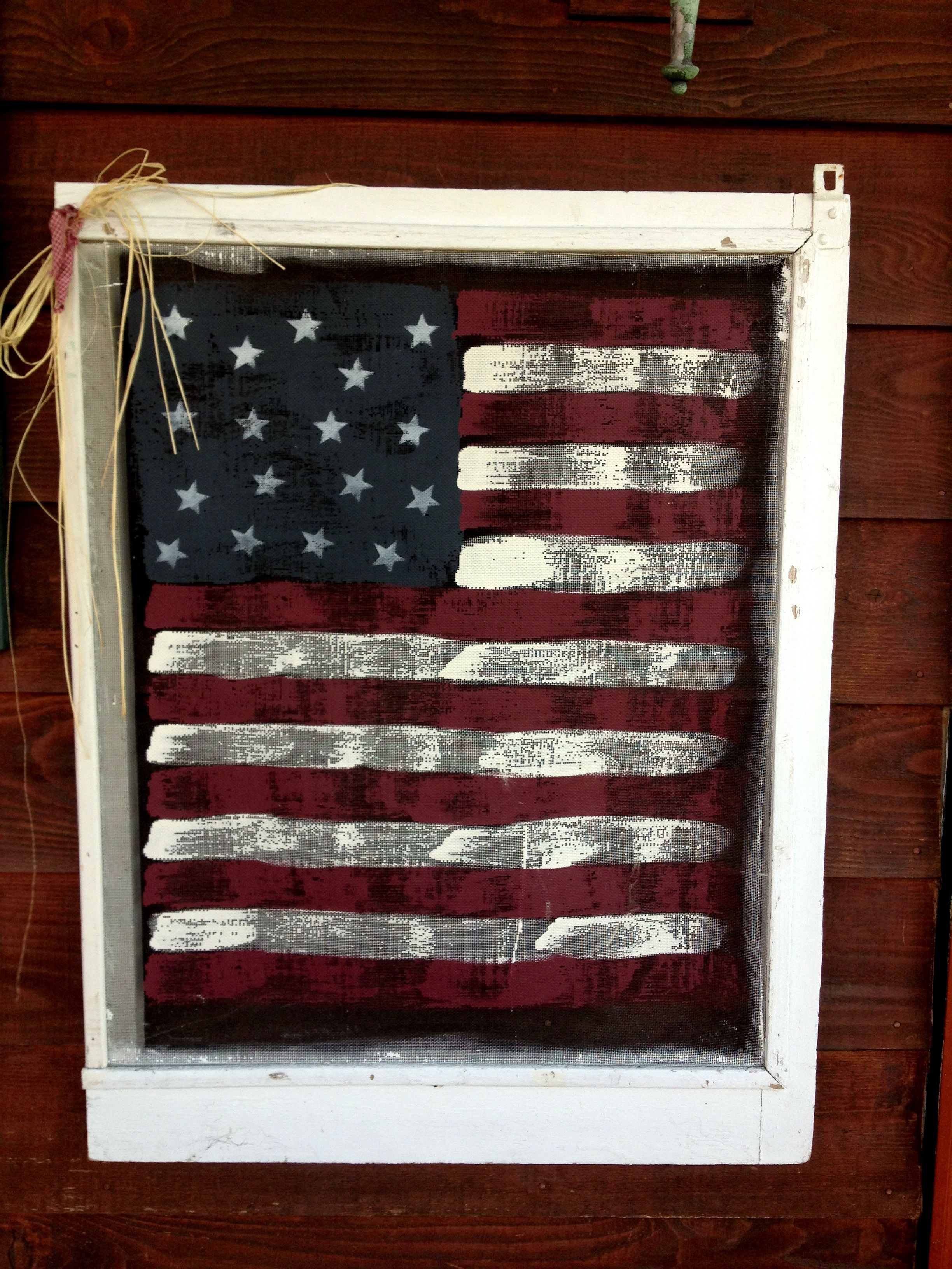 Paint an old window screen!! Mine are red frames...this would be ...