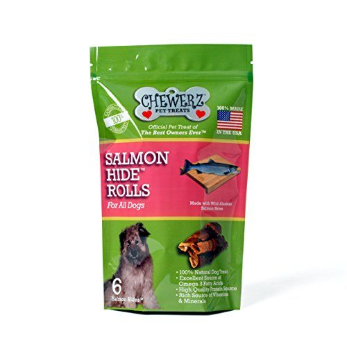 Chewerz Salmonhide Rolls For Dogs Cats Pure Wild Alaskan Salmon