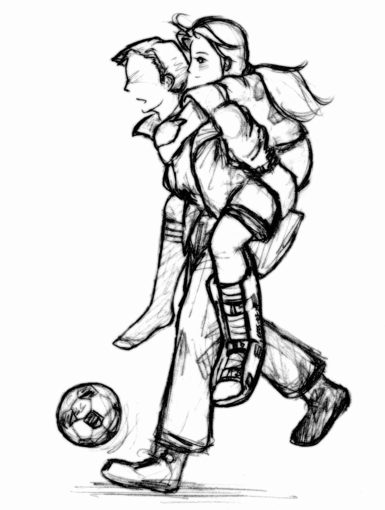 Soccer Girl Coloring Pages Awesome soccer Girl Drawing ...