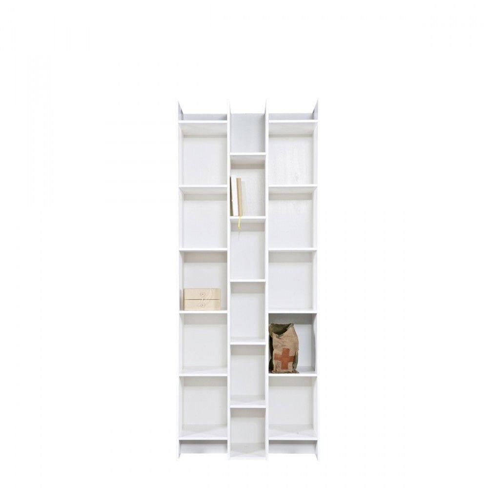Biblioth Que Design 3 Colonnes Klasina Biblioth Que Blanche  # Casier Acacia Blanchie