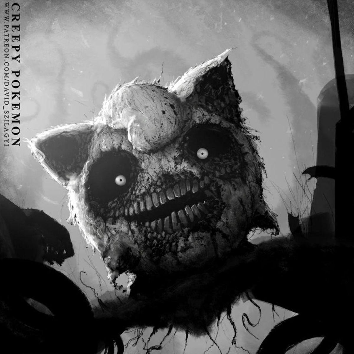 Creepy Pokemon Von David Szilagyi Creepy Pokemon - This artist reimagined pokemon characters with nightmarish results