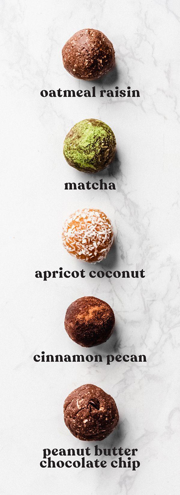 Energy Balls 5 Ways Emilie Eats Recipe In 2020 Vegan Energy Balls Vegan Snack Recipes Healthy Snacks