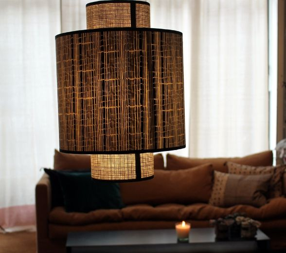 Ilam nepalese paper hanging lamp to keep lampshades fresh and for a softer light we recommend using led technology bulbs