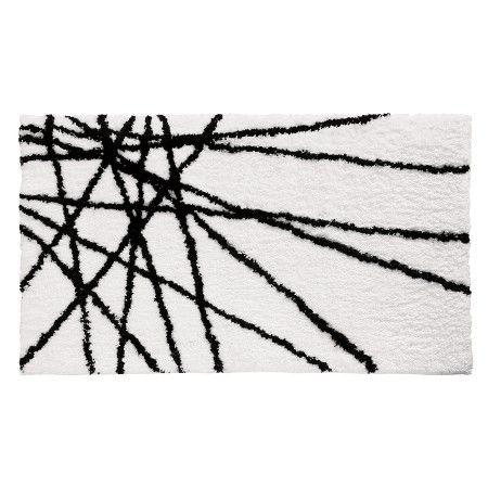Interdesign Abstract Bath Rug  Blackwhite 21X34  Bath Rugs Cool Black And White Bathroom Rugs 2018