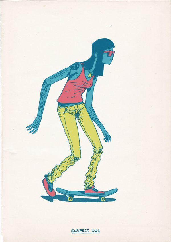 Skateboarding is a Crime by Gerhard Human , via Behance
