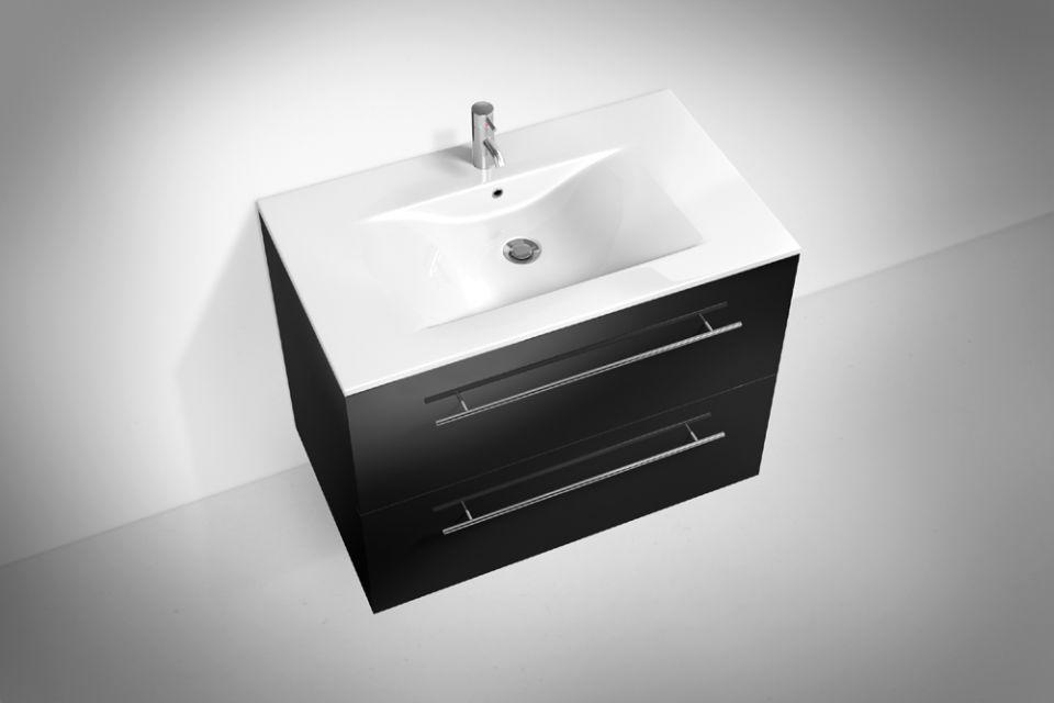 Badmobel Waschtisch 80cm Mit Keramik Aufsatzbecken Toskana 56 In